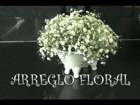 Fiori Bianchi Nuvola.Como Hacer Arreglo Floral Con Flores Blancas Gypsophila Para El
