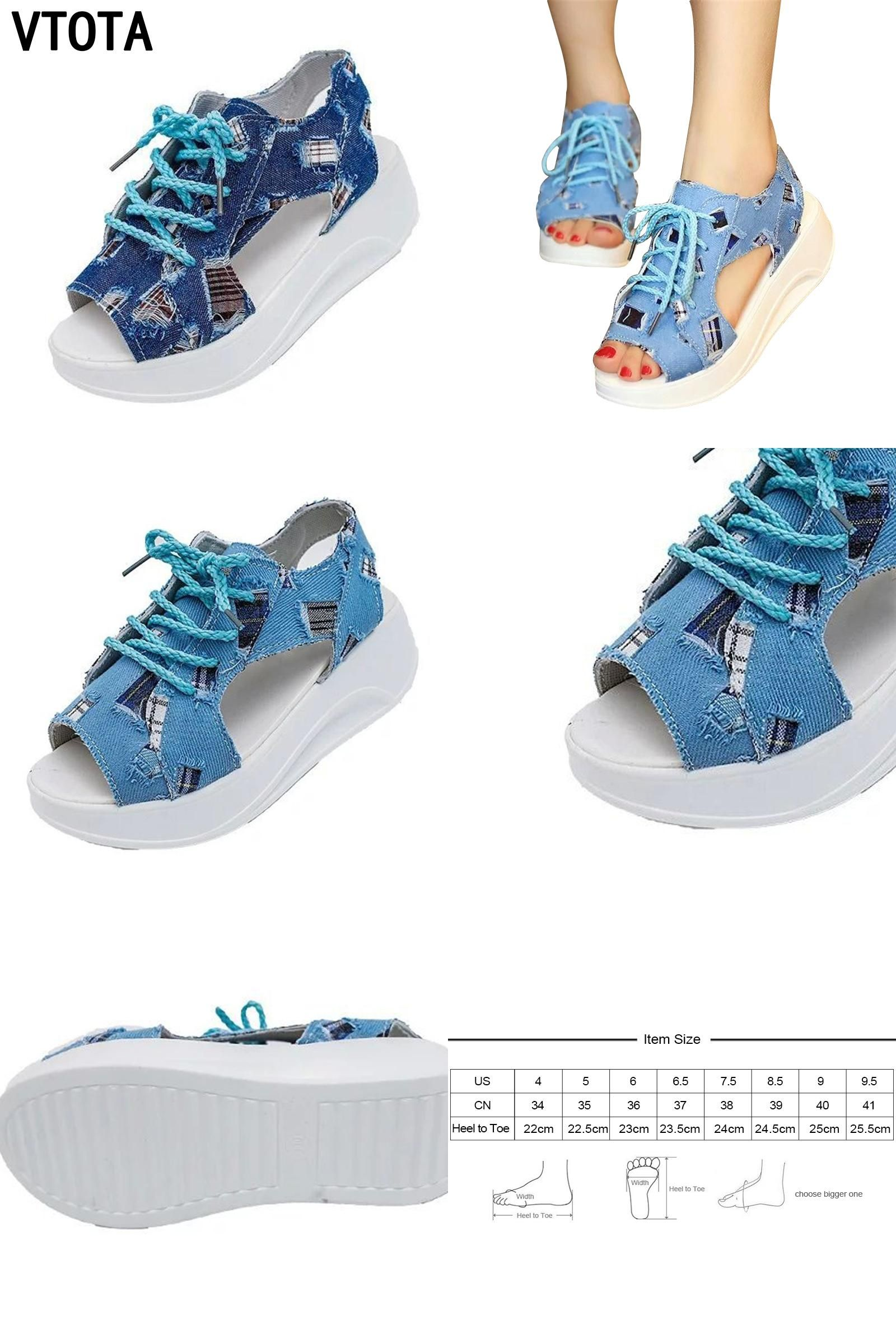Visit to Buy  VTOTA Fashion Women Sandals Denim Summer Shoes Soft Sandals  muffin Shoes 08e922a59478
