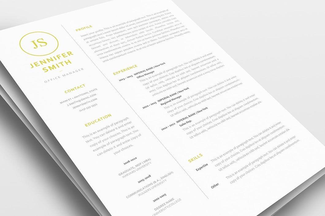 classic resume template 120050