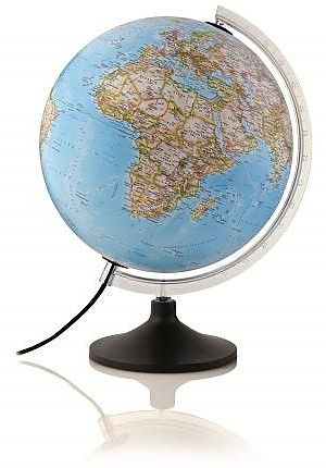 Globe 25cm ILLUMINATED NATIONAL GEOGRAPHIC Globe Physical and Political Features