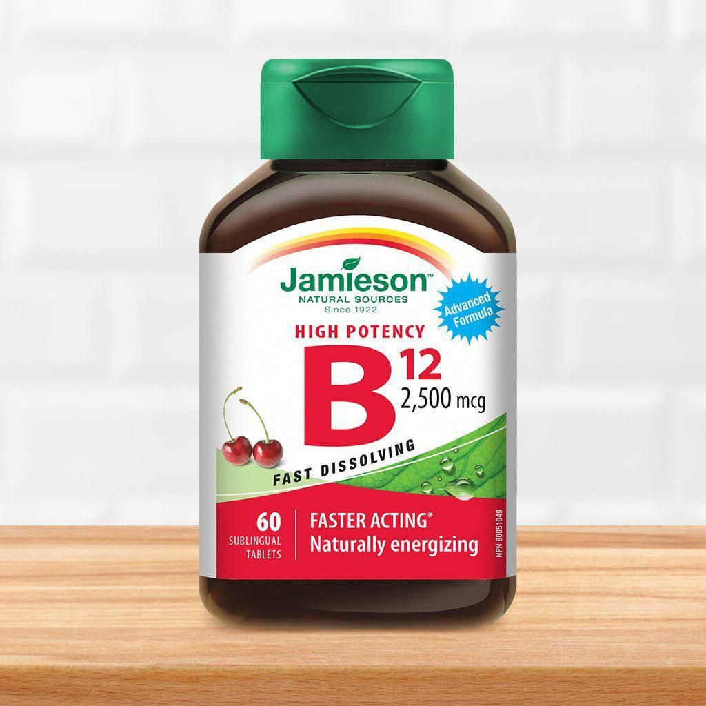 Vitamin B12 2,500 mcg (Methylcobalamin) Sublingual Tablets