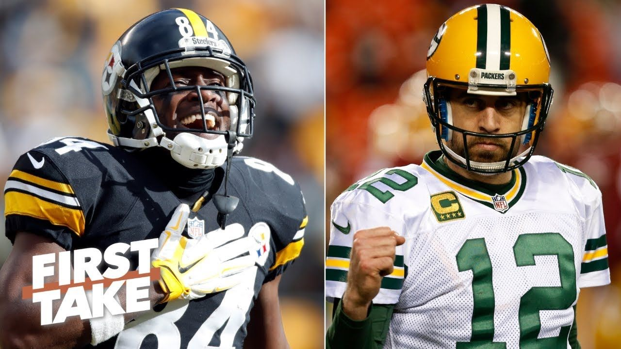 Aaron Rodgers Throwing To Antonio Brown Would Be Something To Behold Stephen A First Take Antonio Brown Aaron Rodgers Basketball News