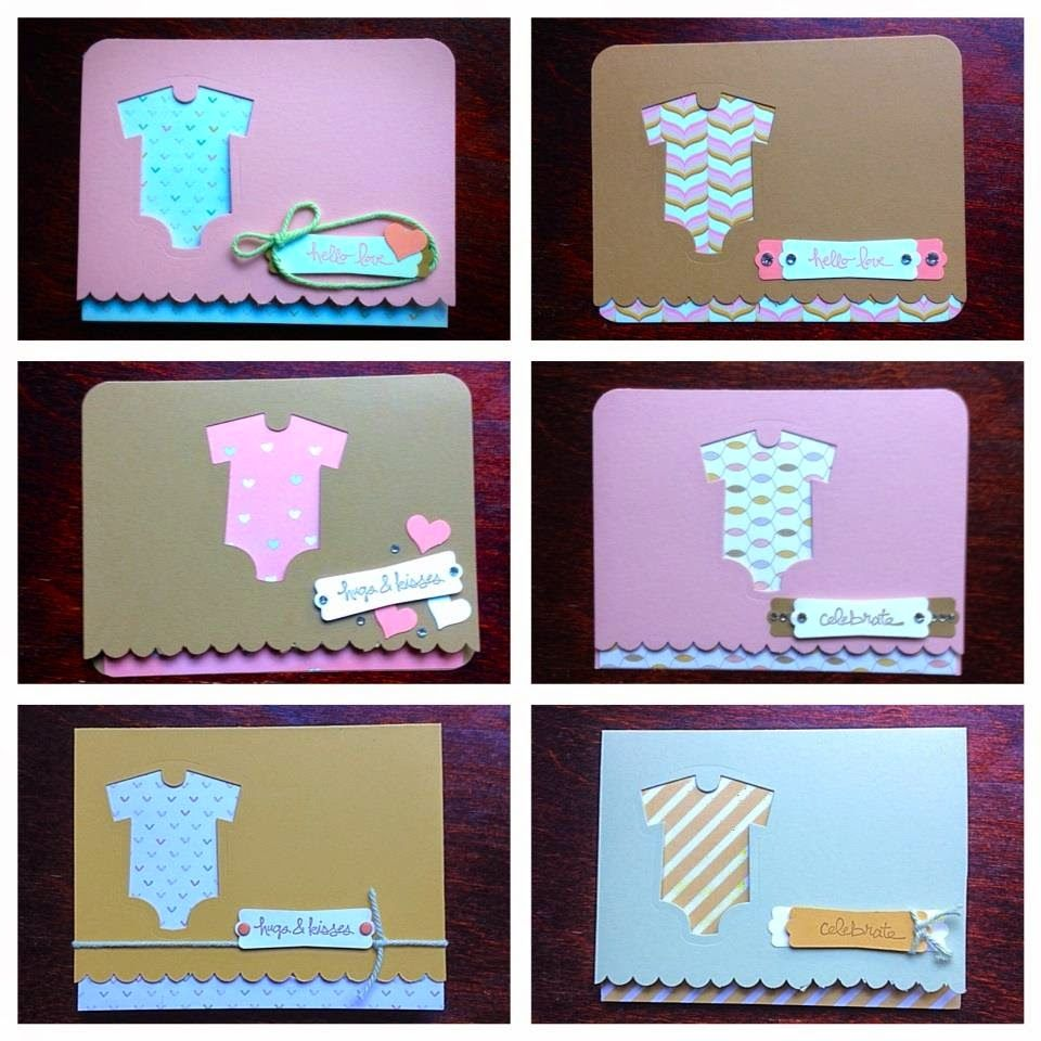 Midnight Crafting: Babys First Lullaby Card Sets - Good Greetings Babys First Framelits Lullaby Designer Series Paper - Stampin' Up! Handmade Card Cardmaking Idea