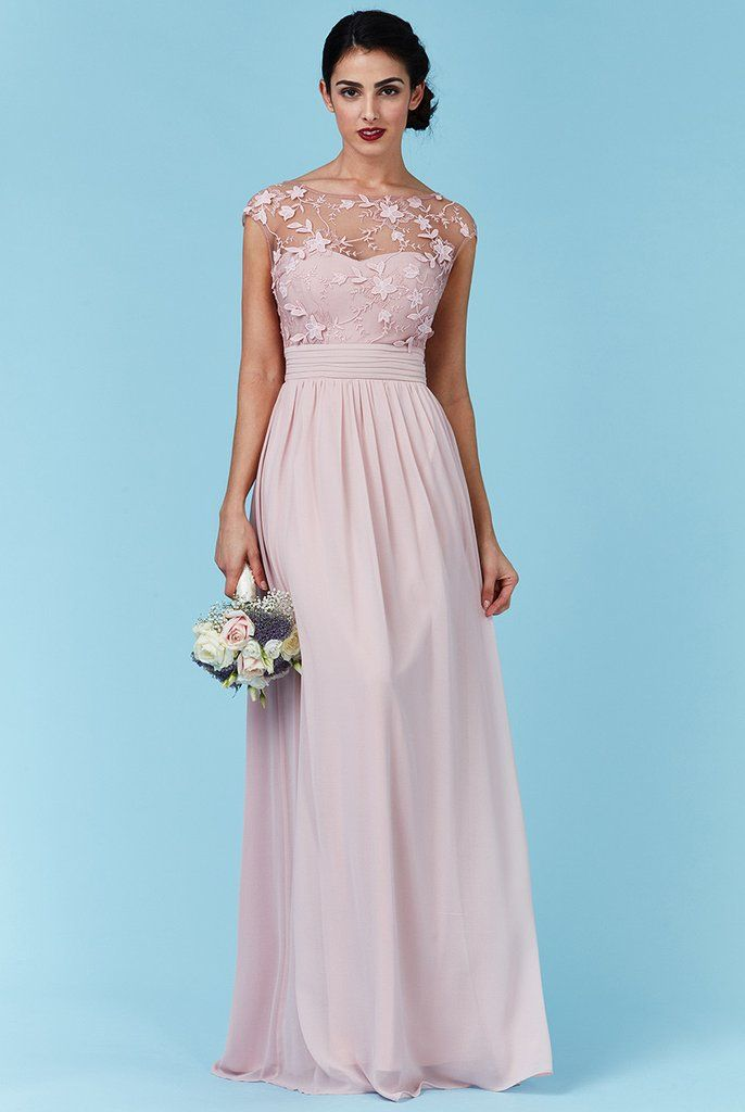 a7dbd79ff66a Goddiva Rose Chiffon Flower Detail Bridesmaid Dress | Wedding Ideas ...