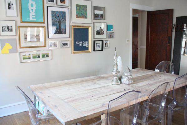 The Farmhouse Dining Table. Ghost ChairsGallery ...