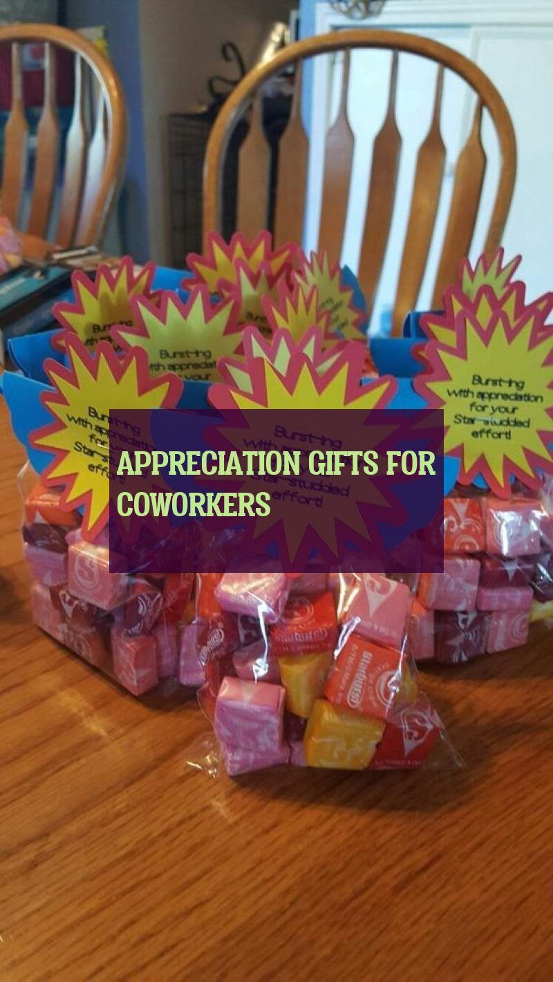 appreciation gifts for coworkers