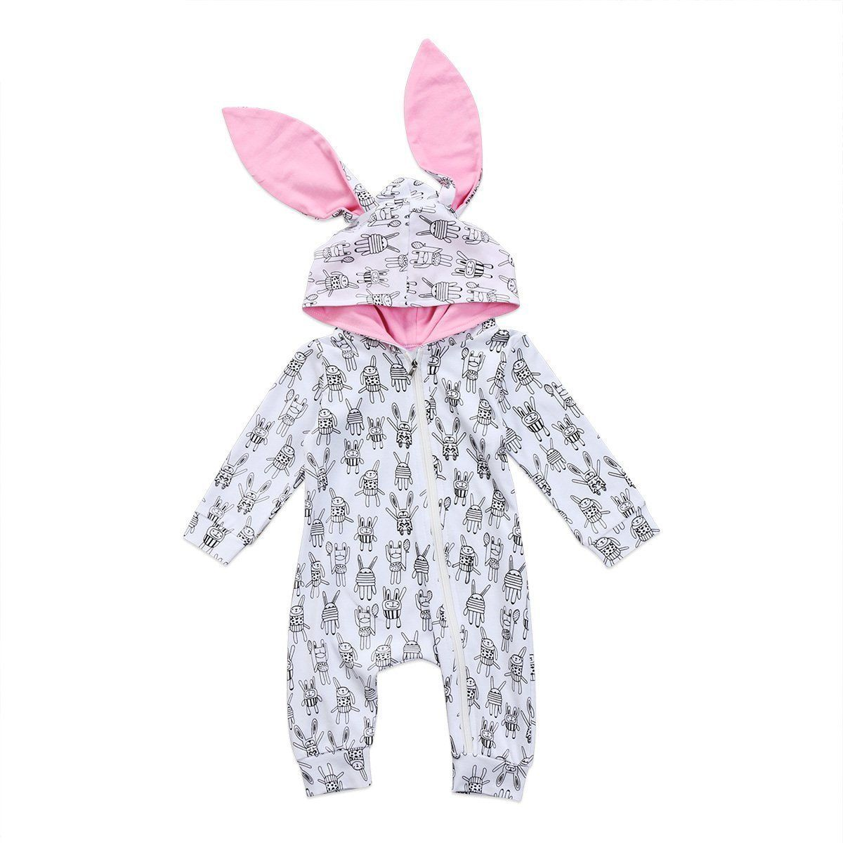 Boys' Baby Clothing Newborn Baby Clothes Rabbit 3d Ear Hooded Baby Rompers Long Sleeve Jumpsuit Overall For Kids Clothing Costume Playsuit Clothes Bodysuits