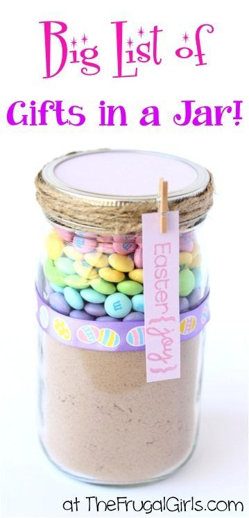 Mason jar easter gift ideas jar easter and gift negle Images