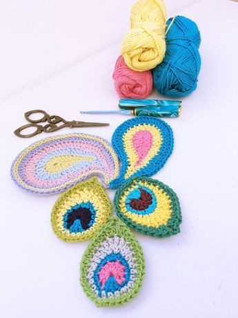 Free Patterns For Peacock And Paisley Crochet Motifs From Lovely