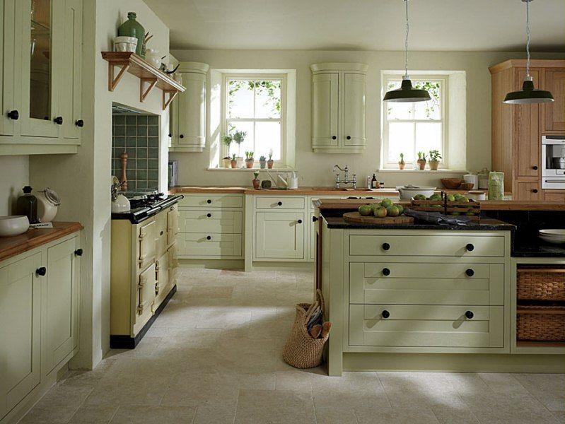 Sage Green Kitchen Ideas Part - 25: Sage Cabinetry With Cream Rangemaster Oven. Sage Green KitchenGreen ...