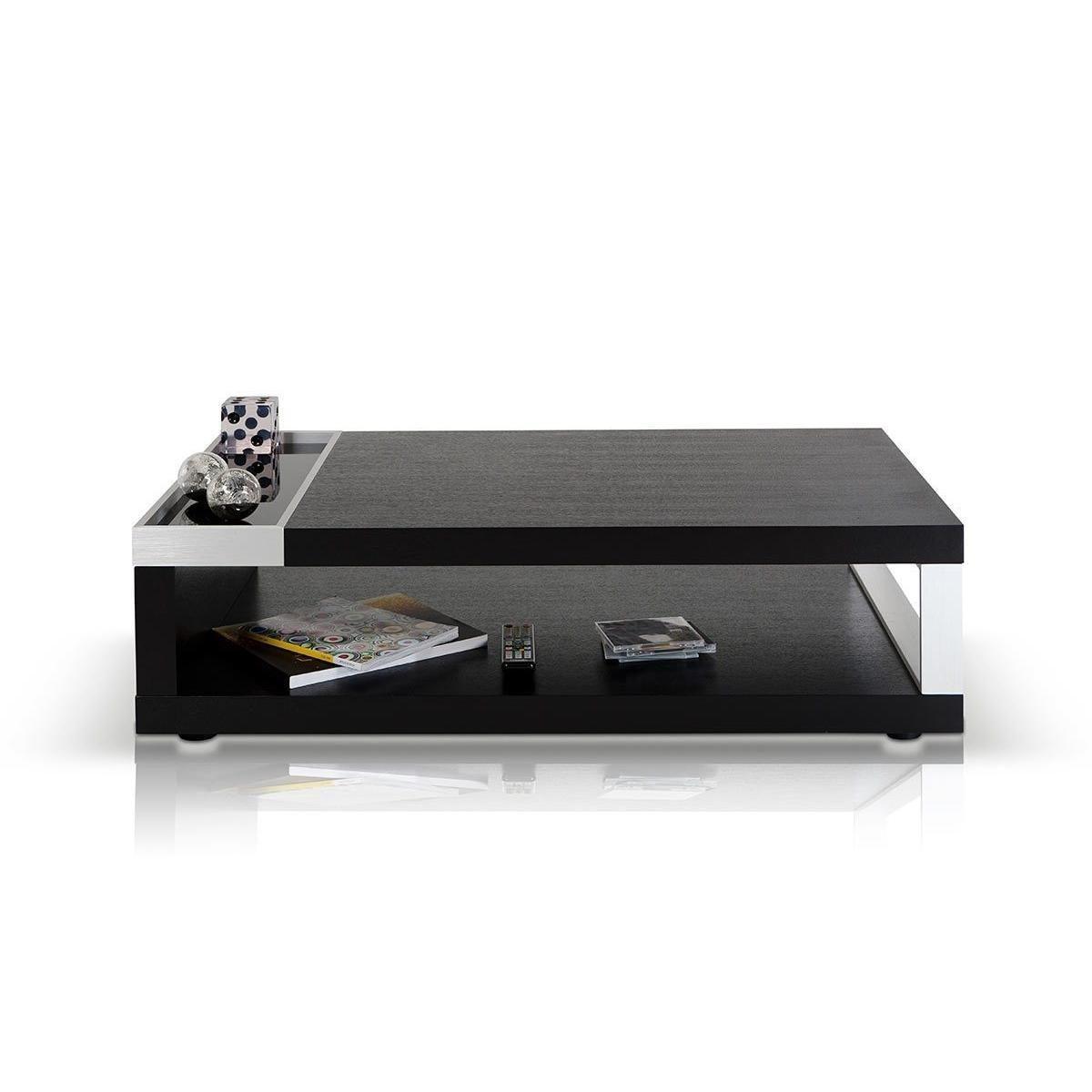 Modrest Lignite Modern Black Oak Coffee Table Solid Coffee Table Coffee Table Coffee Table With Storage [ 800 x 1200 Pixel ]
