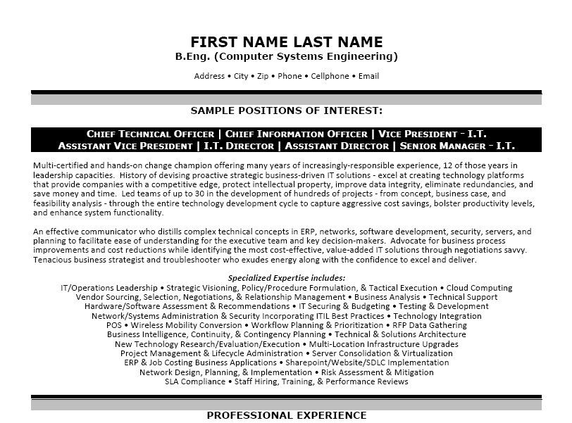 Click Here to Download this Computer Systems Engineer Resume ...