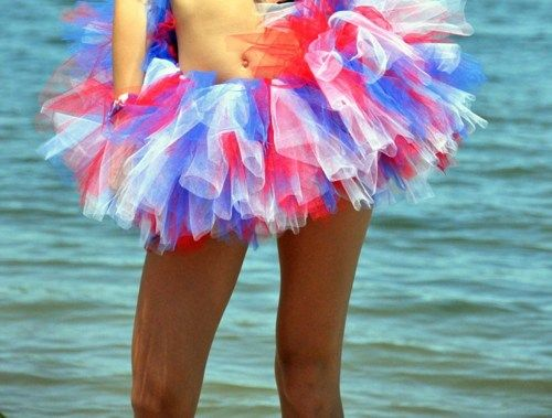 Patriotic Tutu Red White & Blue July 4th Tutu Pettiskirt Adults | gingasgalleria - Clothing on ArtFire