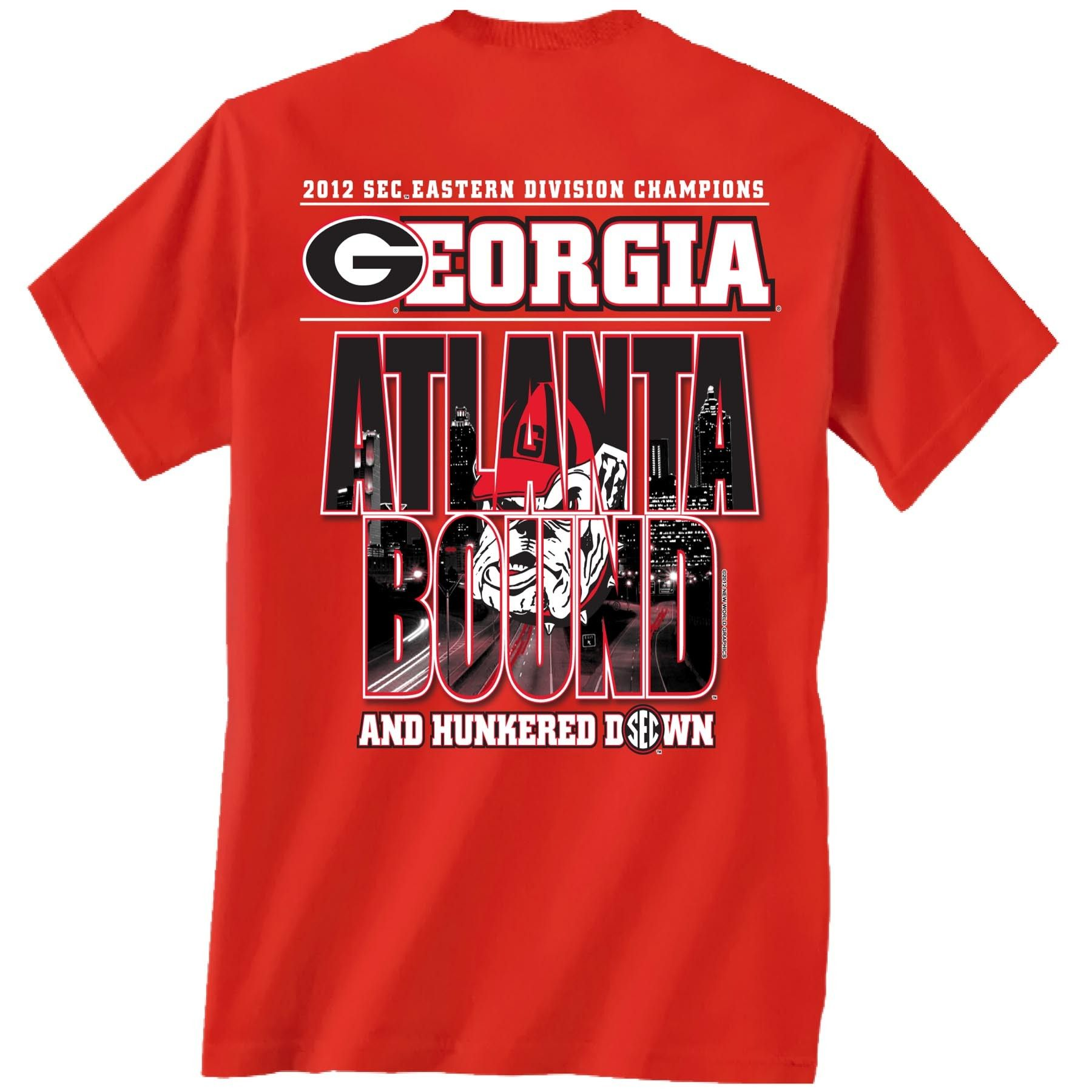 Georgia Hunker down Atlanta bound t shirt $16.99