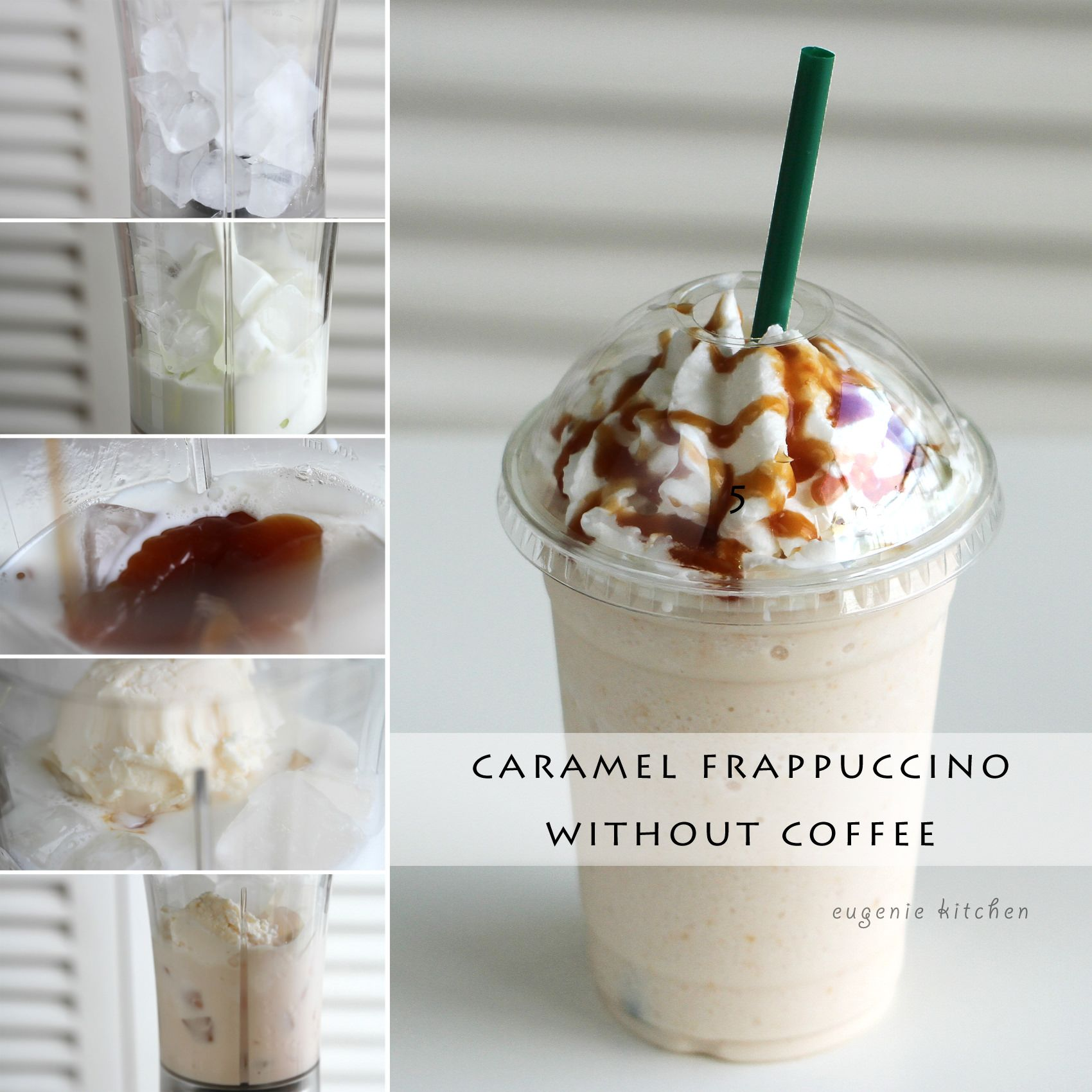 Caramel Fappuccino Without Coffee Recipe Starbucks Recipes Starbucks Drinks Recipes Caramel Frappuccino