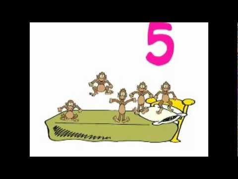Five Little Monkeys Jumping On The Bed Original Song Youtube Five Little Monkeys Five Little Monkeys Song Kids Songs