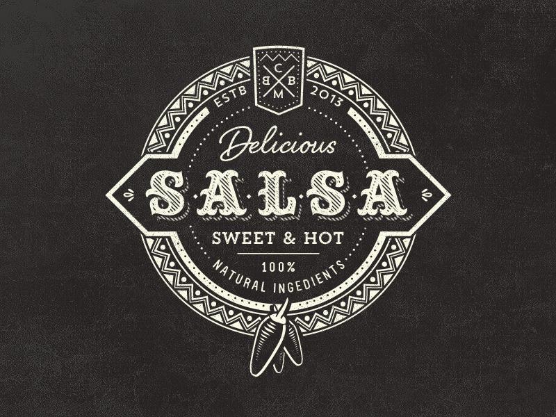 Vintage Salsa Logo Vintage logo design, Food logo design