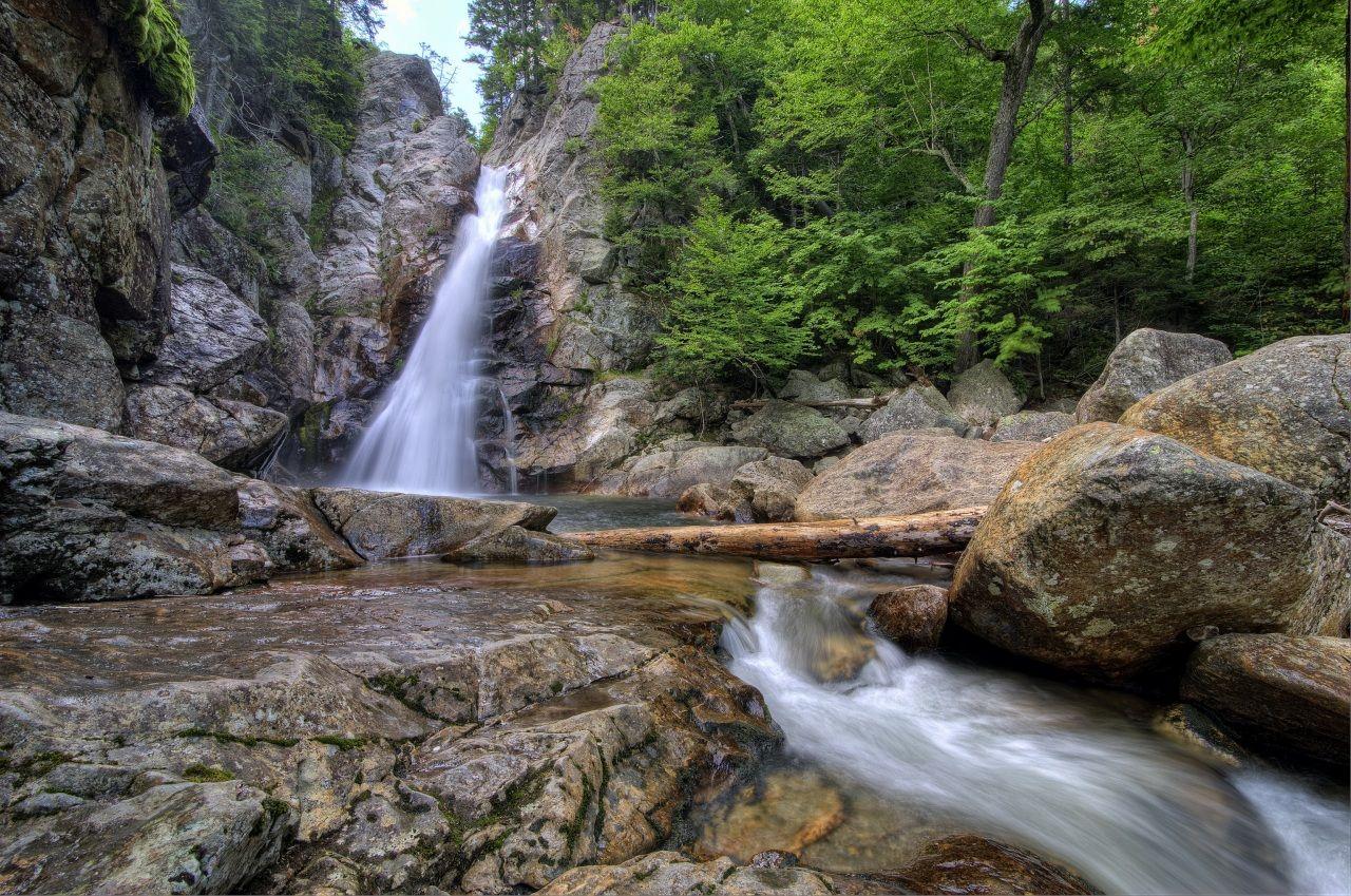Водопады США Камни Glen Ellis New Hampshire Природа