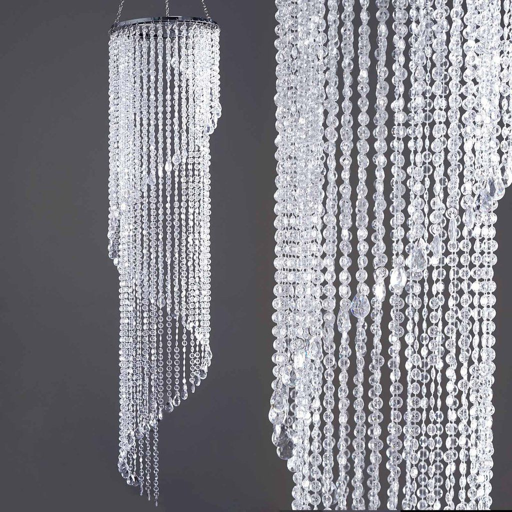 72 acrylic diamond spiral chandelier centerpiece wedding for Plastic chandeliers for parties