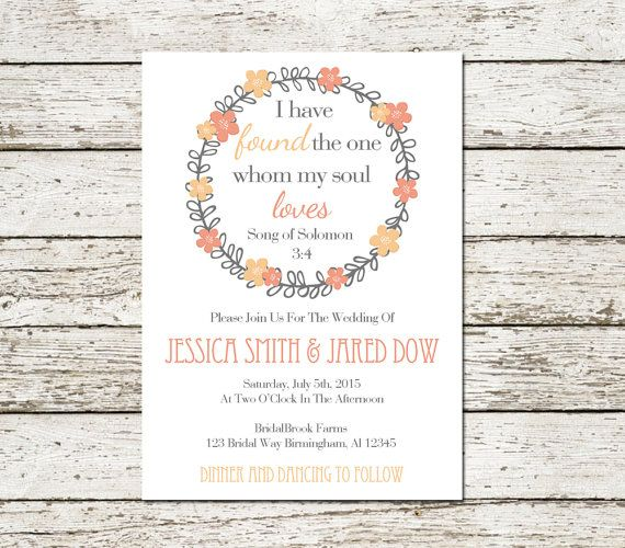 9 Romantic Bible Verse Wedding Invitations That Wow For Interfaith