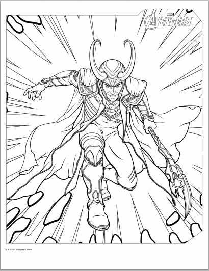 Avengers Loki Coloring Page | Adult coloring pages | Pinterest ...