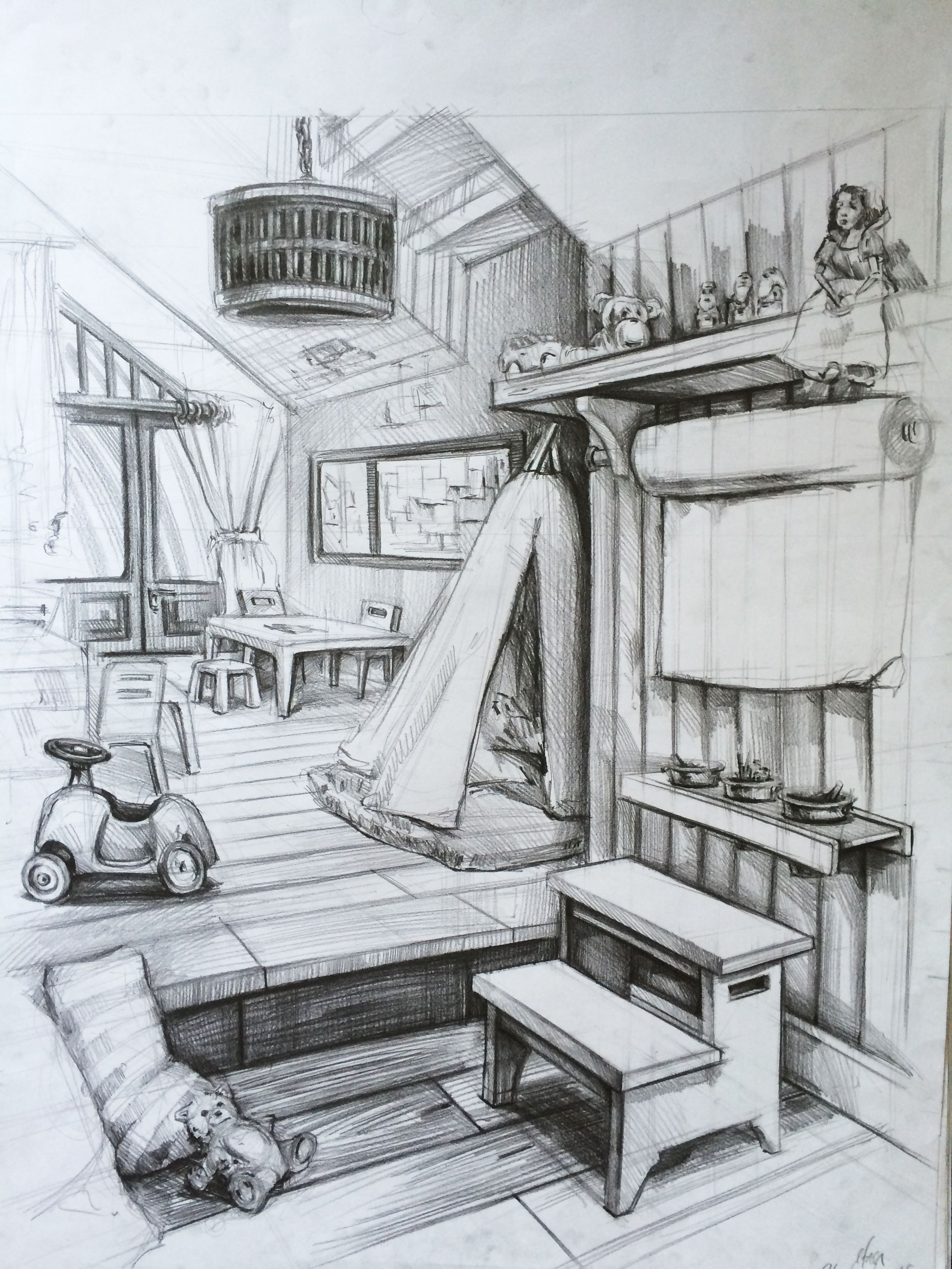 Room Drawing Pencil
