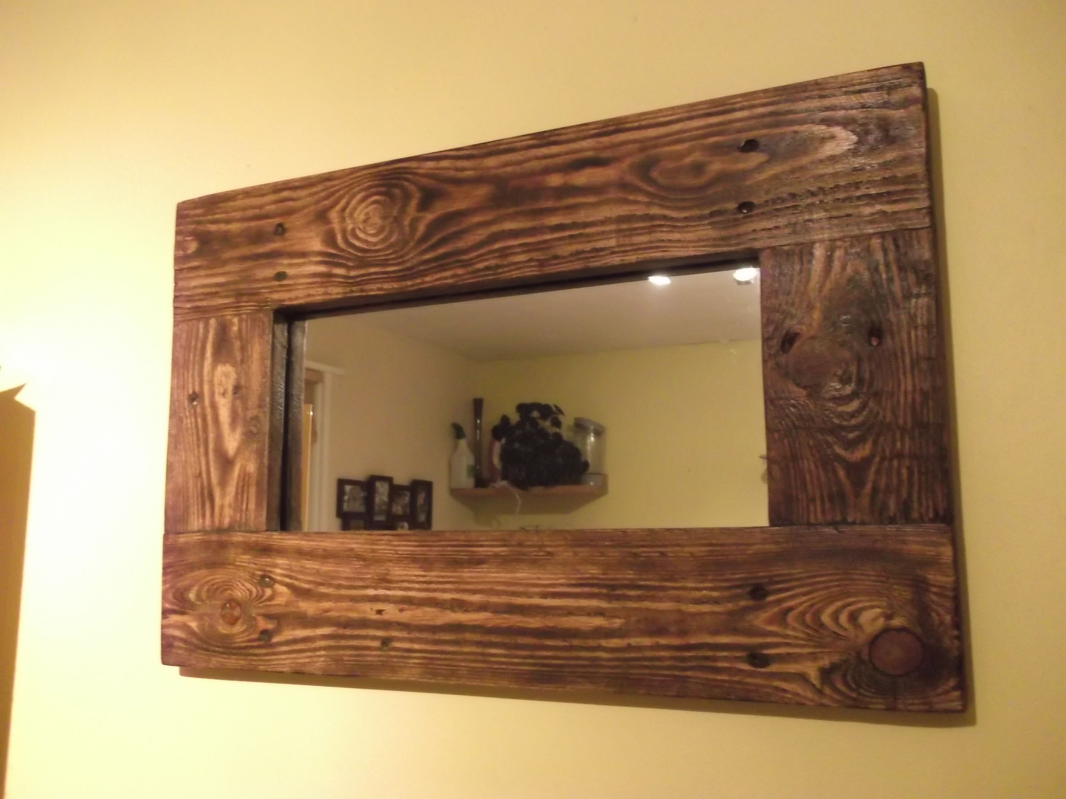 Mirrors Made With Reclaimed Wood Available To Order To Size