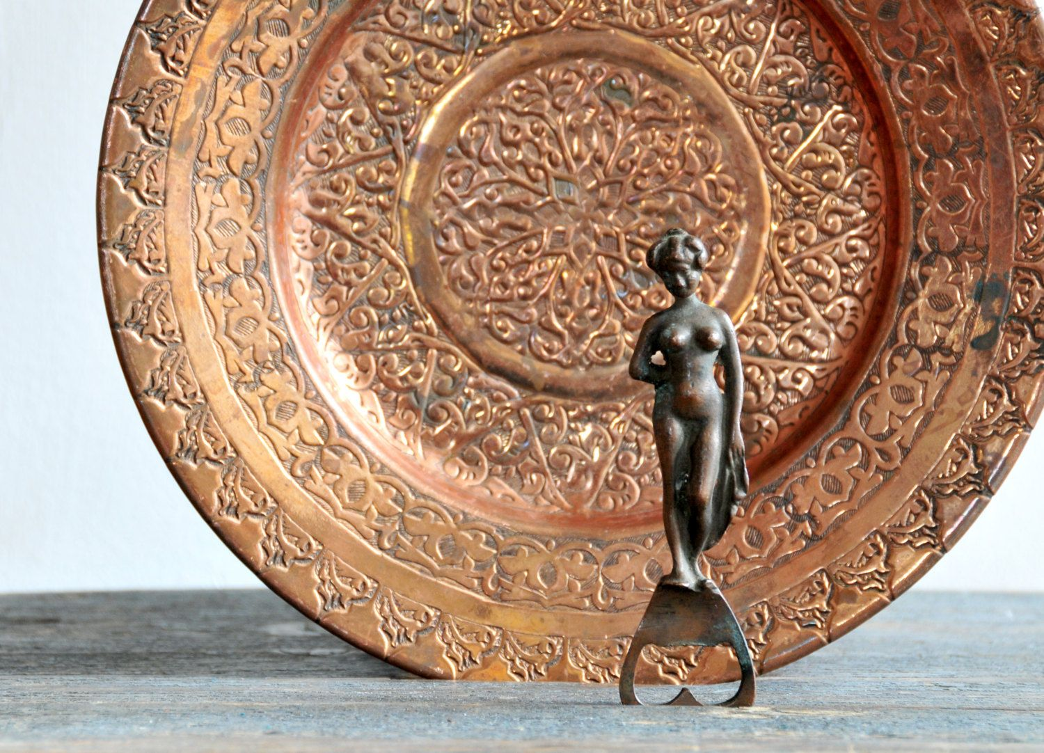 Copper Wall Plate Copper Wall Hanging Oriental Plate Oriental Home Decor Copper Home Decor By Coloursandsoul On Ets Copper Wall Plates On Wall Wall Hanging