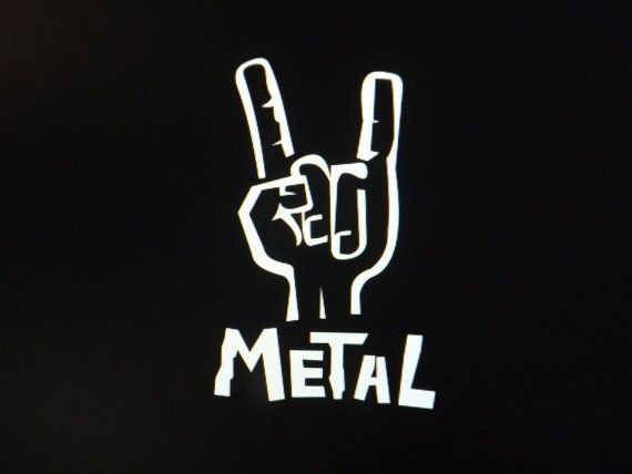Metal Music Rock On Hand Symbol Viynl Vehicle Decal