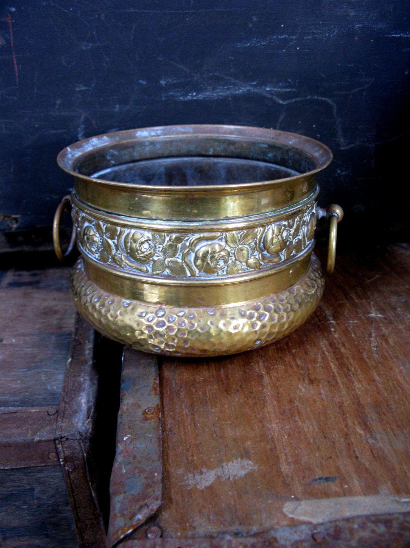 Brass Plant Pot Vintage Plant Pot Brass Planter Brass Flower Pot Antique Brass Vintage Brass Pot Brass Jardin Decorative Pots Brass Planter Vintage
