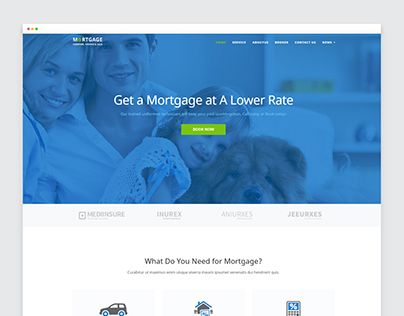 Check Out New Work On My Behance Portfolio Mortgage Website Te - Mortgage website templates