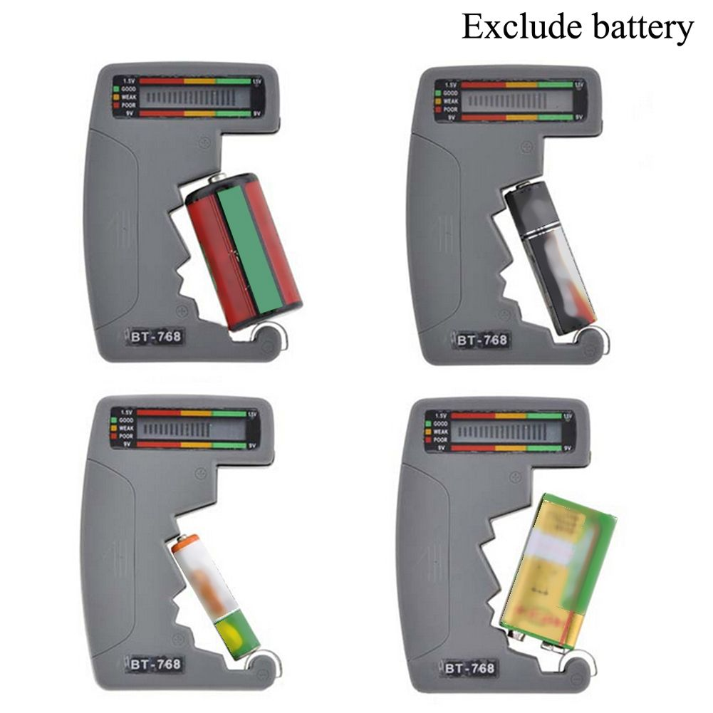 Digital Lcd Battery Tester Universal For Testing 9v 1 5v C Aa Aaa Normal Alkaline Rechargeable Batteri Batteries Testers Rechargeable Batteries Battery Testing