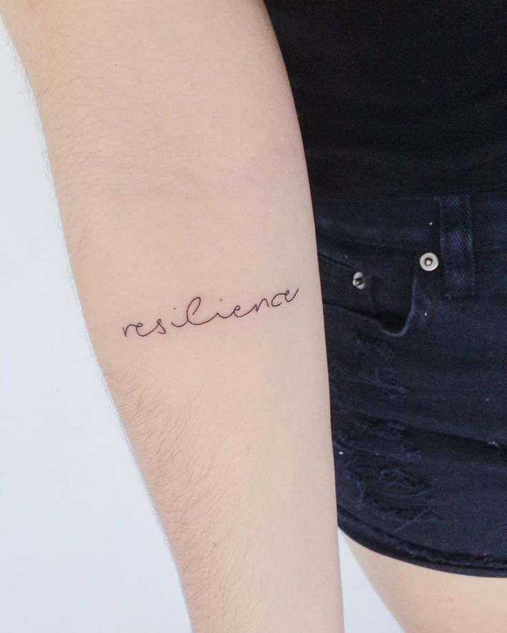 Word Tattoo Design Resilience tattoo