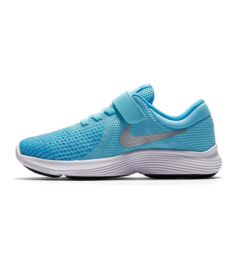 Nike Revolution 4 PS Kids Bleached Aqua/Metallic Silver