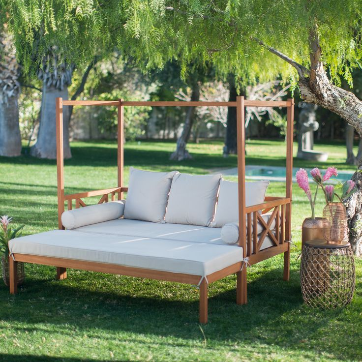 Outdoor Daybeds as Comfortable Patio Chairs for Pleasant ... on Belham Living Brighton Outdoor Daybed id=81630