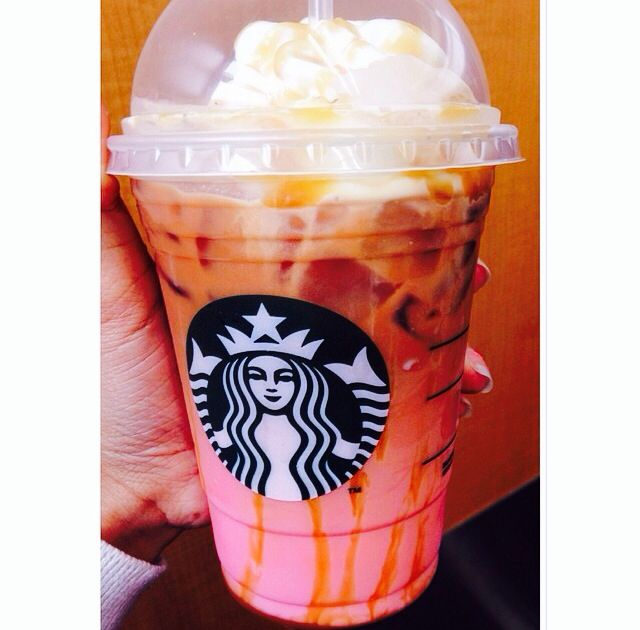 When you're ordering a caramel macchiato, instead of getting the vanilla syrup at the bottom of the cup, ask for raspberry syrup.  - Raspberry Caramel Macchiato off of the Starbucks Secret Menu