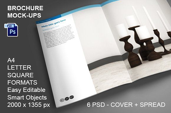 Brochure Mock-ups - 6 PSD a4 brochure templates psd a4 size - microsoft word brochure templates free download