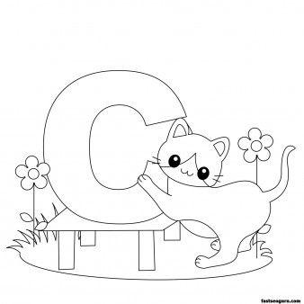 Printable Animal Alphabet worksheets Letter C for Cat - Printable ...