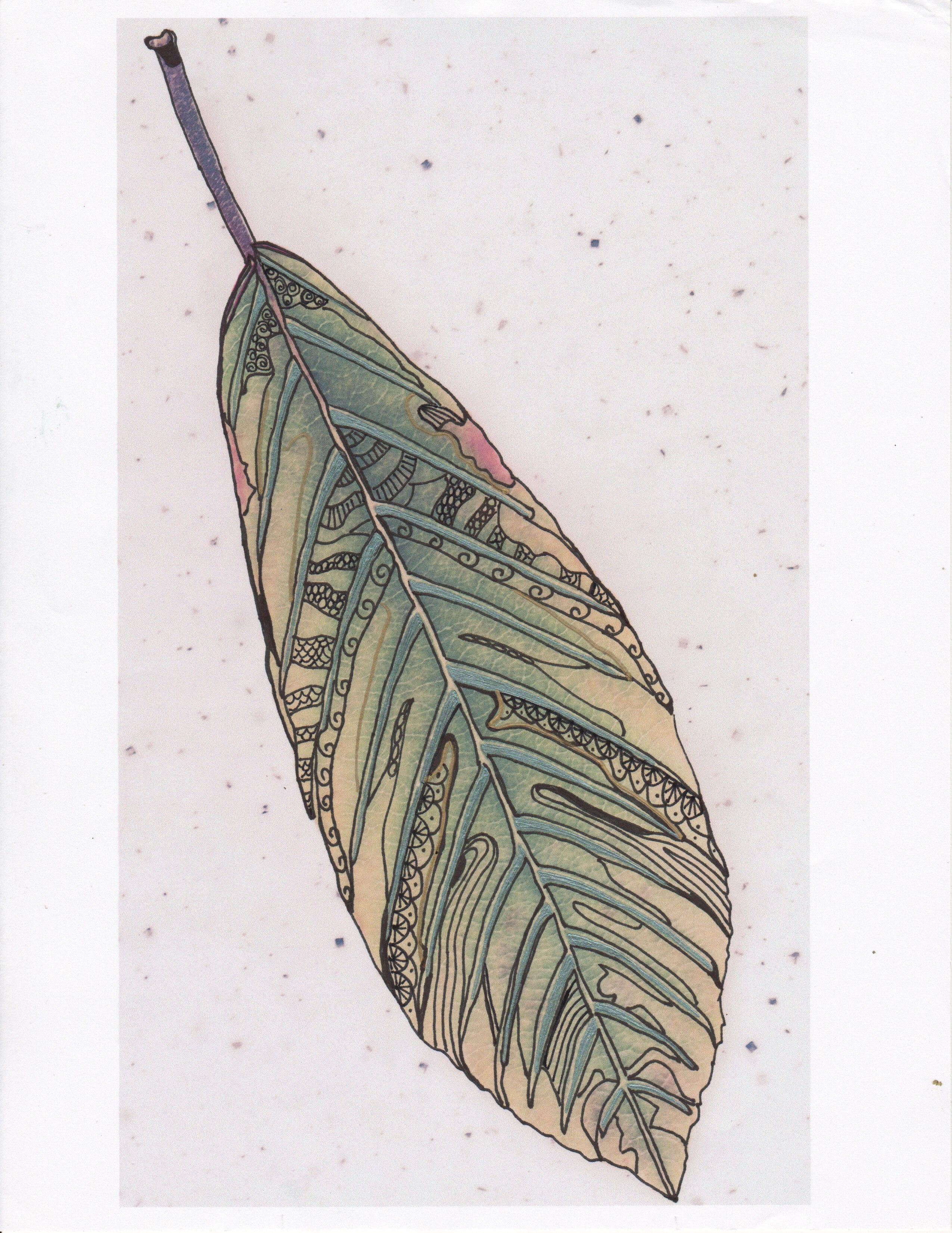 Long Leaf Zentangled - Devina Brookman