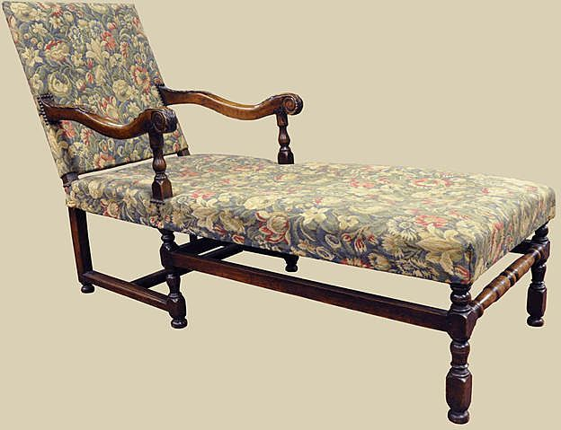 French Louis Xiii Style Chaise Chaise Chaise Lounge Furniture