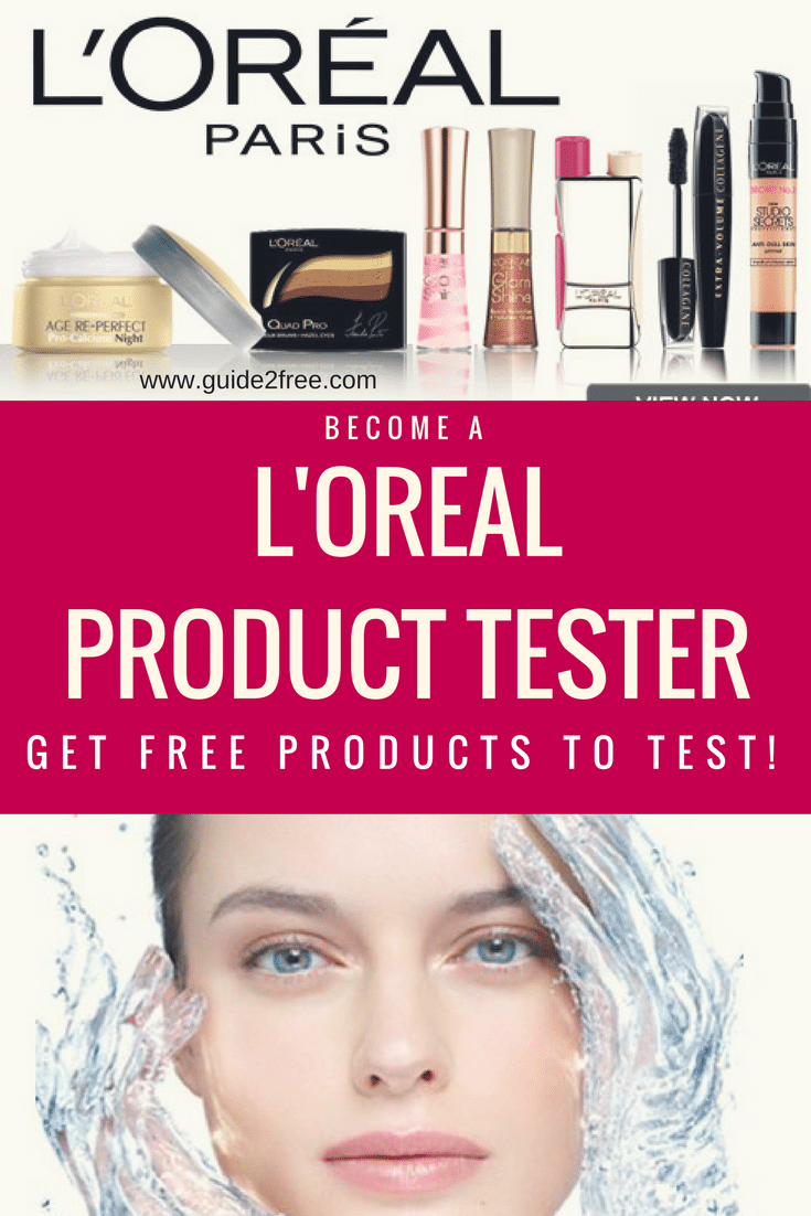 L Oreal Consumer Product Testing Panel Loreal Free Makeup Samples Product Tester