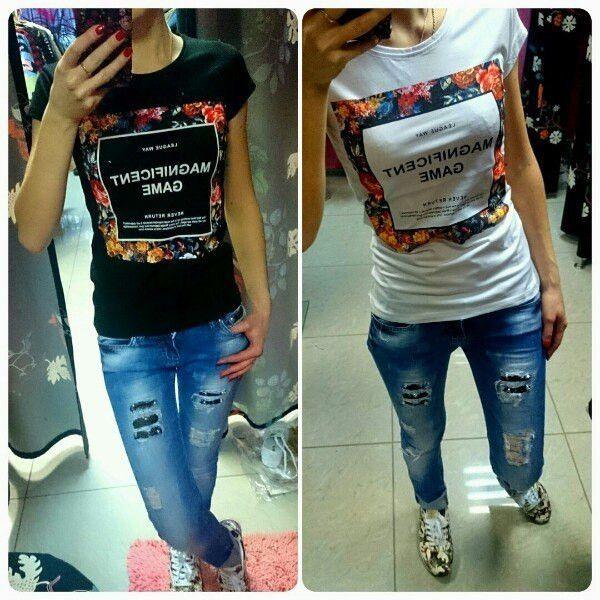 TSHIRTS -TOPS FÜR FRAUEN -T Shirts - Short Sleeve Tops Tee - letter Print t-shirts
