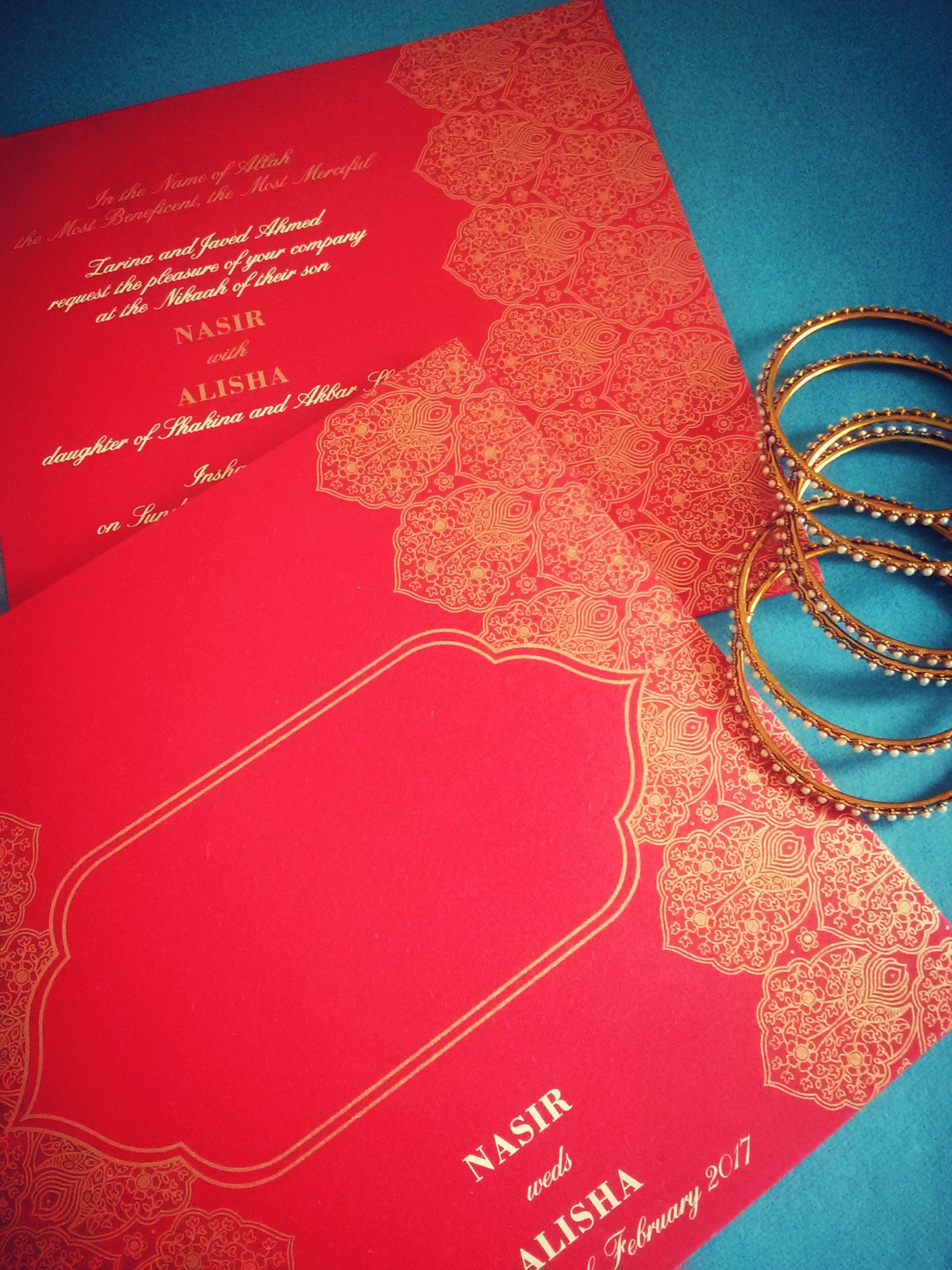 Islamic Invitations for your Muslim wedding! Shop here: http://www ...