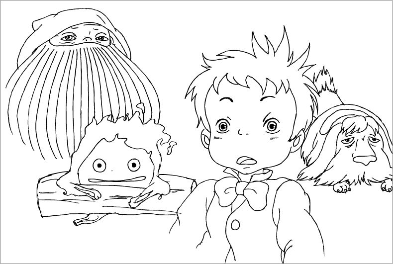 Howl\'s moving castle painting pattern - Google 검색 | coloring ...