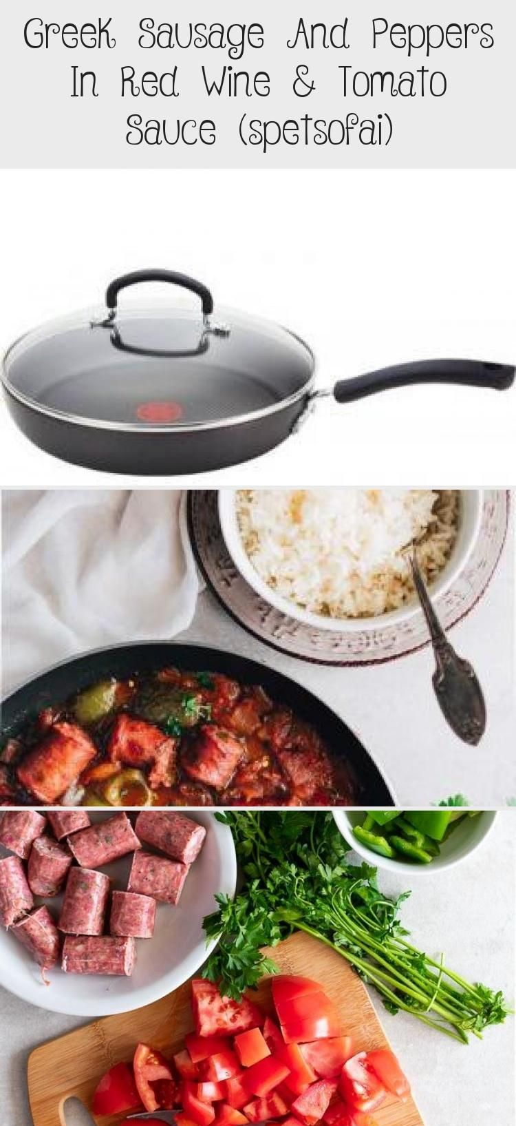 Greek Sausage And Peppers In Red Wine & Tomato Sauce (spetsofai) – Recipes For Kids