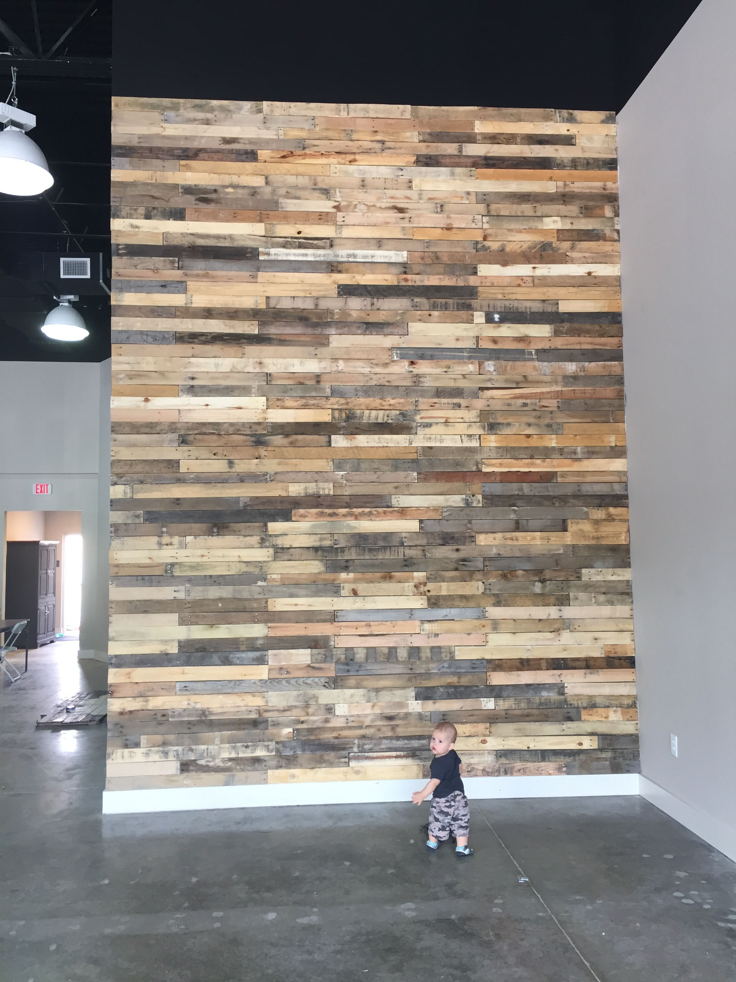 16 foot pallet wall | Stage lighting design, Pallet wall ...