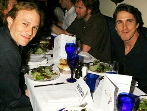 Christian Bale and Heath Ledger