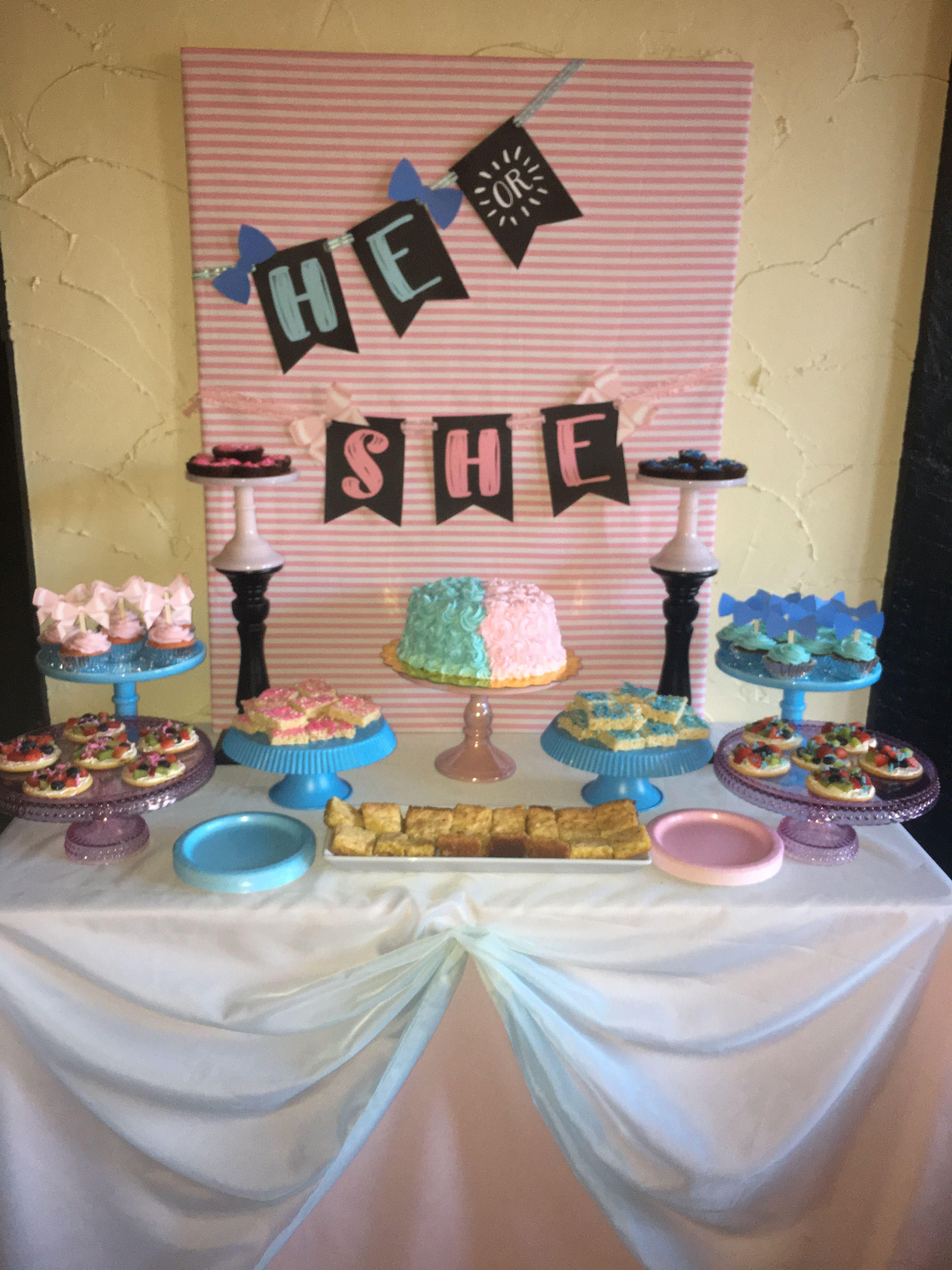 Gender Reveal Dessert Table Gender Reveal Dessert Table Gender