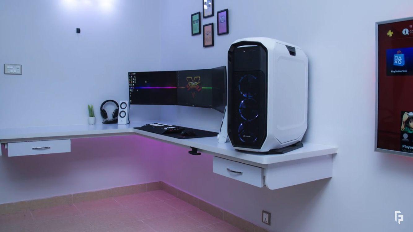 Futuristic gaming setup gaming stations bureau