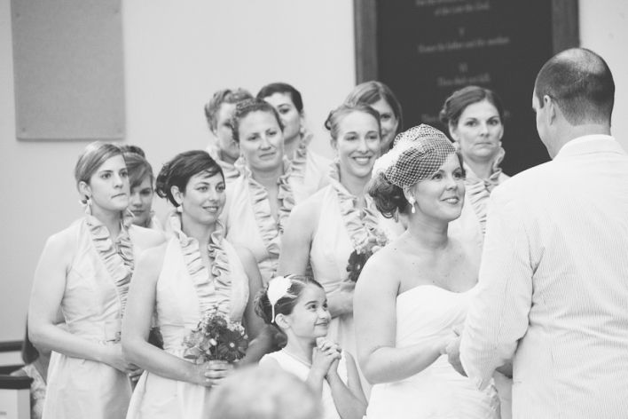be funny if the bridesmaids were giving the groom a dirty look